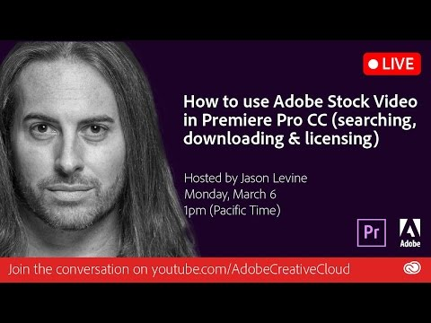 How to use AdobeStock Video in Premiere Pro (search, download & license)