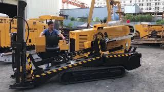 ГНБ установка Drillto ZT-05 - работа каретки