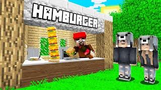 FAKİR'İN AİLESİ HAMBURGER DÜKKANI AÇTI! 😱 - Minecraft