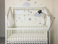 Baby Corner Setup Time-Lapse: Stokke Home Crib & Mothercare Wall Stickers