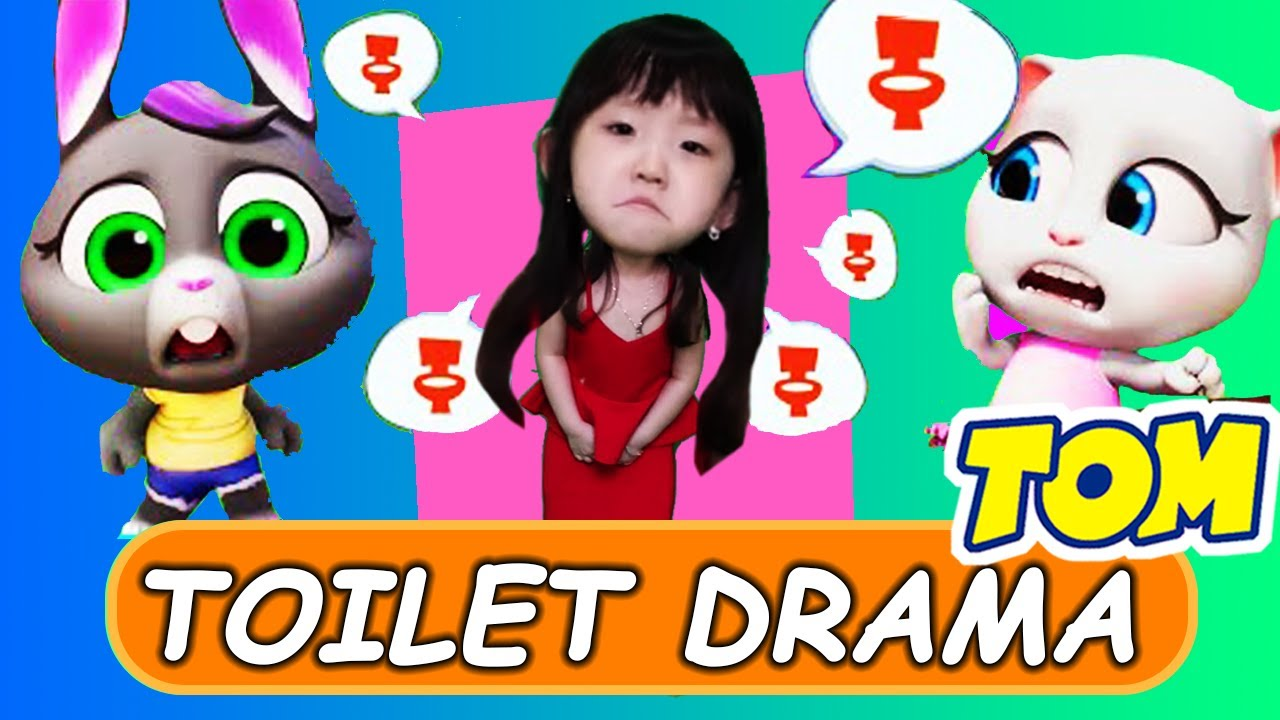 🚽 My Talking Tom Friends Toilet Drama Official Trailer in REAL LIFE 🚽 (NEW GAME)