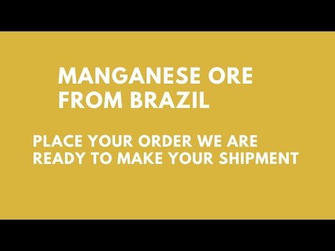 Shipment Of Manganese Ore For Export