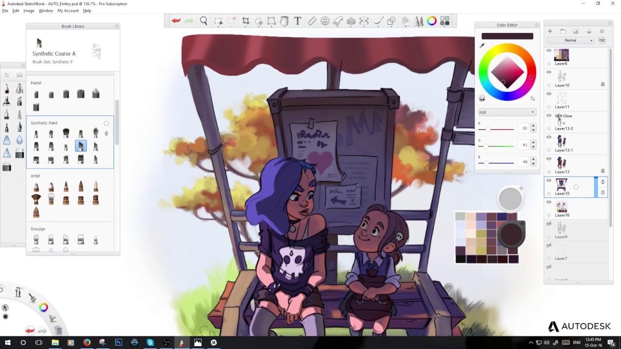 Autodesk Sketchbook Pro Demo With Jenny Harder