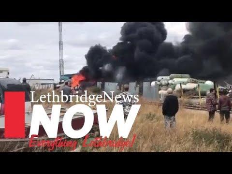 Fire at North Lethbridge scrap yard