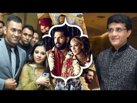 YUVRAJ SINGH-HAZEL KEECH'S GLITZY WEDDING RECEPTION| MS Dhoni.Ganguly among guests