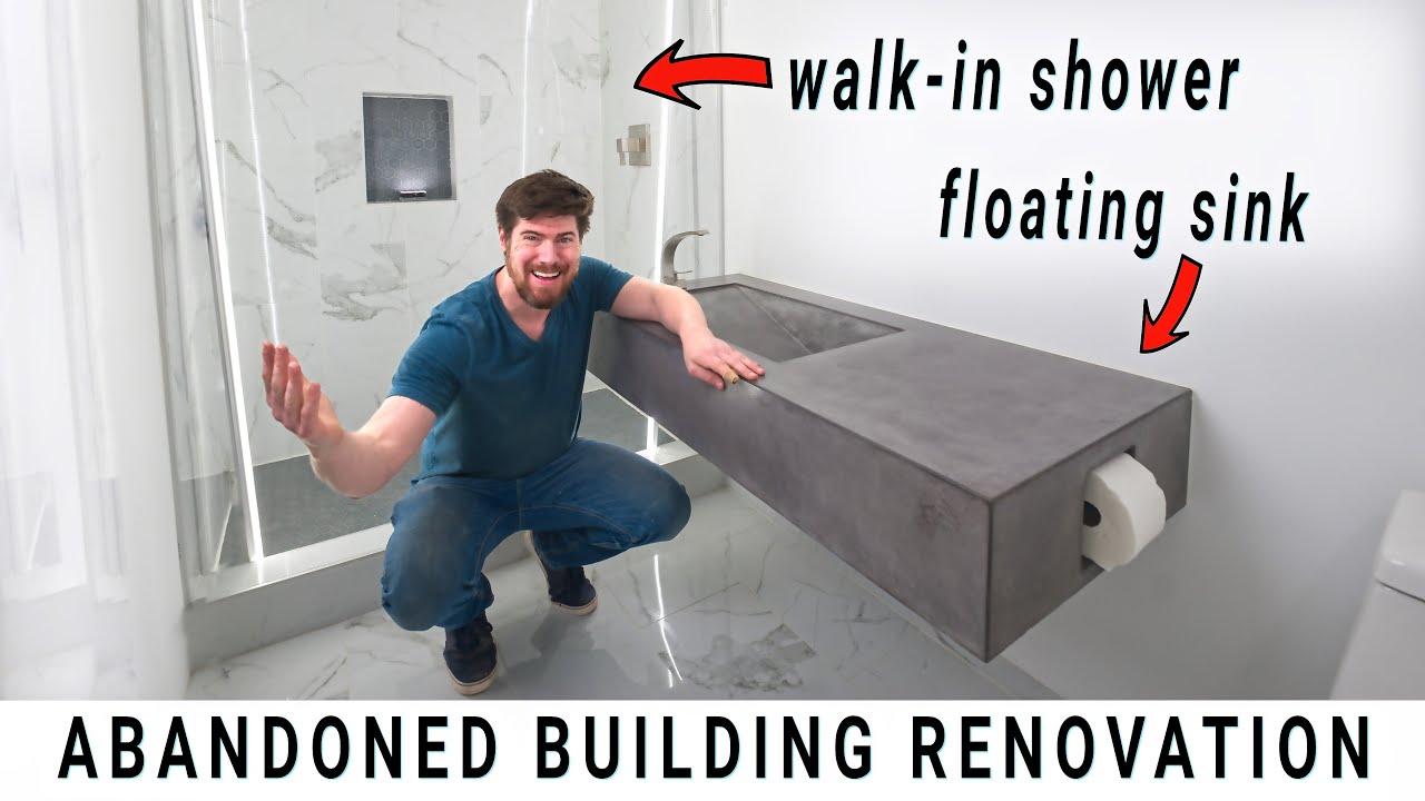 DIY ULTRA-MODERN BATHROOM...how I did it // Ep. 18