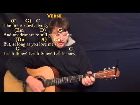 Let It Snow! - Strum Guitar Cover Lesson in C with Chords/Lyrics