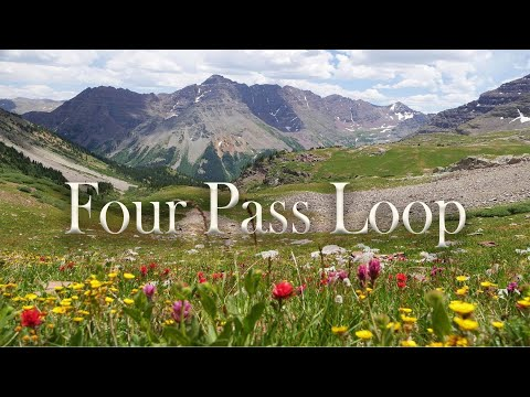 Backpacking Maroon Bells - Four Pass Loop. Aspen, Colorado.