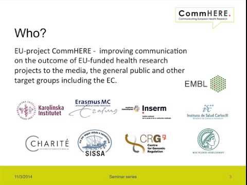 Introduction - The value of disseminating EU projects according to the European Commission