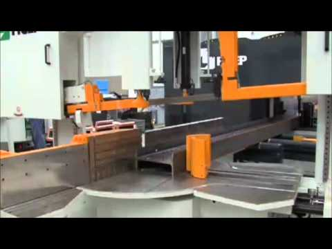 Ficep Drill And Saw Multi Spindle Cnc Beam Line Youtube