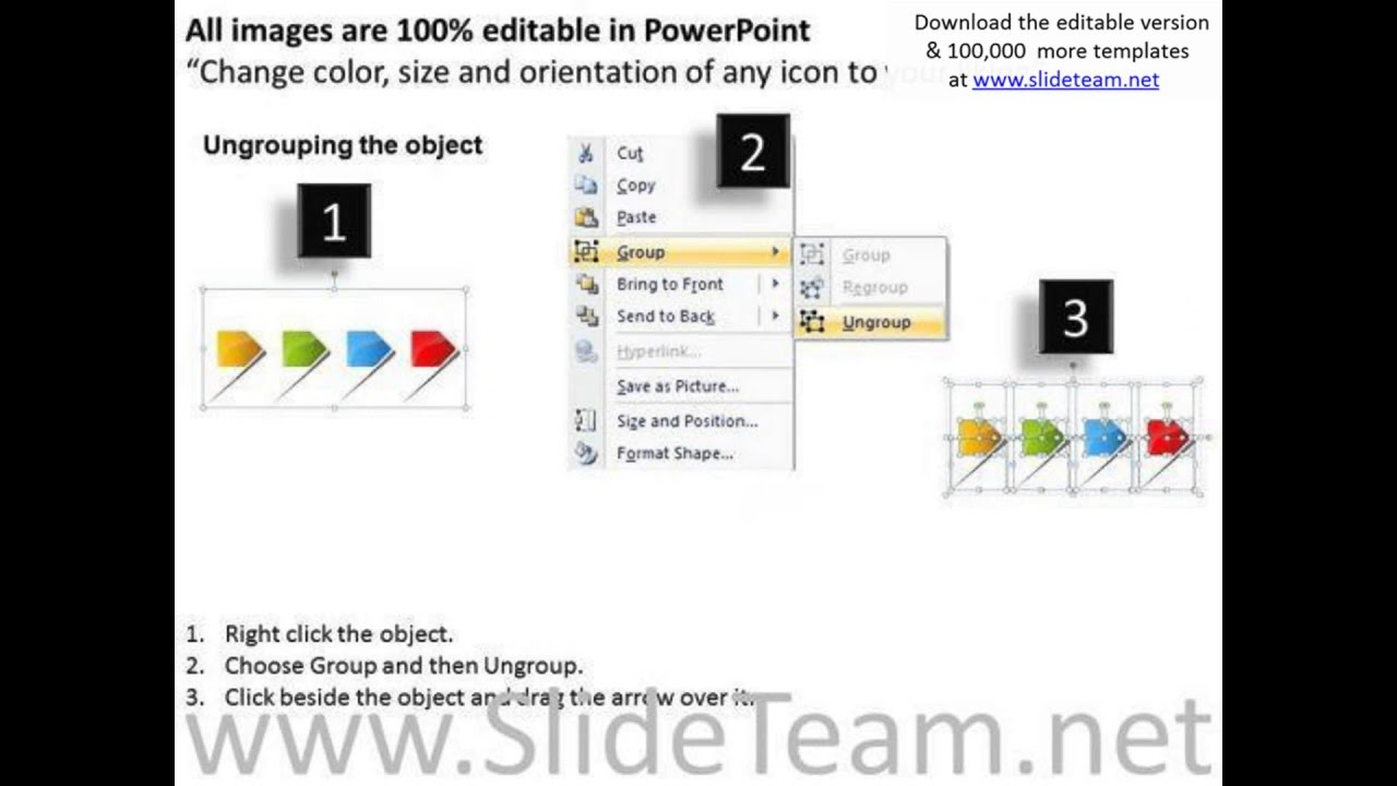 4 linear arrows free flowchart template powerpoint templates youtube