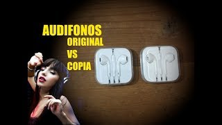 audifonos originales vs copia