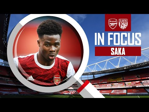 Bukayo Saka | Every Touch | Arsenal vs West Brom (3-1) | Compilation