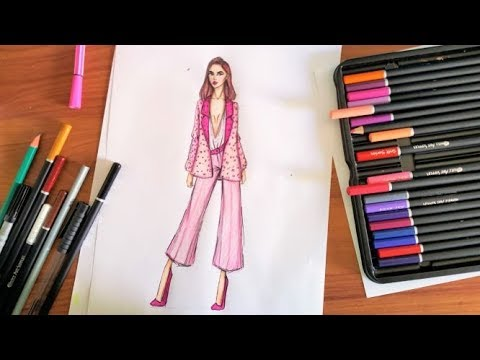 Fashion Drawing  how to dress a croquis
