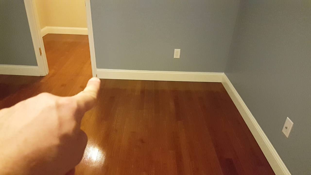 Water Popped Oak Floor With Bona Special Walnut Stain And