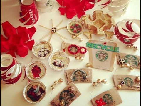 ❤️DIY CRAFT! Starbucks Christmas Ornaments!❤ - YouTube
