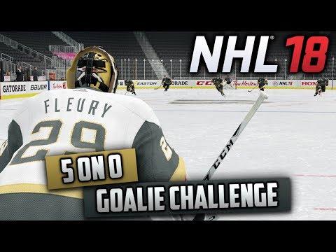 The 5 on 0 Goalie Challenge! (NHL 18 Challenge)