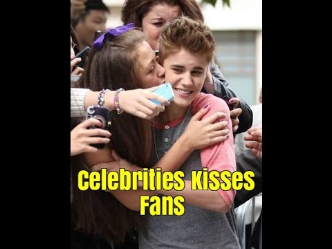 Celebrities kissing reporters in live interviews