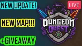 🔴🎩NEW MAP!!! +GIVEAWAY!!! 🎩(Dungeon Quest RobloX)🔴