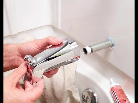 How To Replace A Bathtub Spout | Home Plumbing Repair Video Series   YouTube