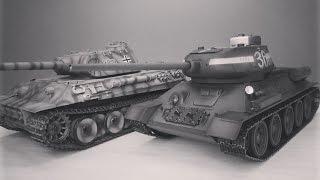 Фанатам world of tanks и War Thunder ... Радиоуправляемый танк Т-34-85 с инфракрасной системой боя(Фанатам world of tanks и War Thunder ... Радиоуправляемый танк Т-34-85 с инфракрасной системой боя КУПИТЬ: http://hobbyostrov.ru/tanks/tan..., 2016-12-25T04:15:31.000Z)