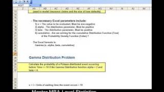 How You Can Use the Gamma Distribution to Solve Problems - and Do It In Excel !