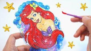 Kit de Diseño Atrapaluz con La Sirenita Ariel ¡Hazlo tú! • Disney Princess Ariel Suncatcher DIY