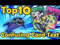 Top 10 Cards With Confusing Card Text in YuGiOh