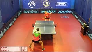 Настольный теннис матч 221018 1  Гац Юлия  Пинтуриа Любовь