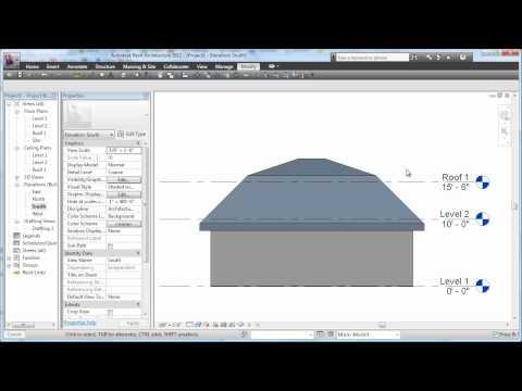 CADClip - REVIT 2011 Roof  Basics  06 Mansard