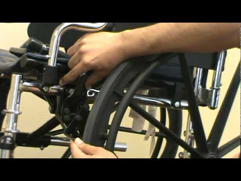 New Solutions How to install and adjust wheel locks on standard wheelchair