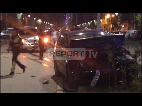 Report TV - Vlorë, aksident i rëndë te rruga Transballkanike, një grua rëndë