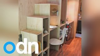 Student Builds His Own Tiny House To Avoid Debt