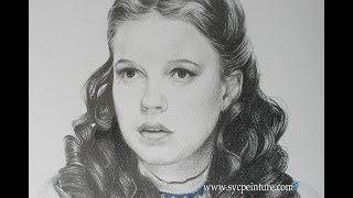 Speed drawing Judy garland, the wizard of Oz