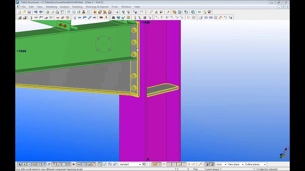 tekla structures lesson 5 youtube