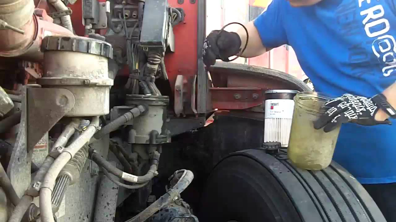 Cummins Isx Fuel Filter Replacement Youtube Small Engine Installation