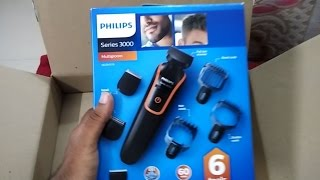 Philips QG3347 Multi Grooming Kit trimmer Unboxing