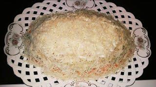 Салат с курицей и свежим огурцом