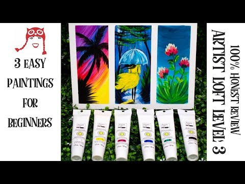 Artist Loft Level 3 New Product 100% Honest Review And 3 Easy Paintings For Beginners