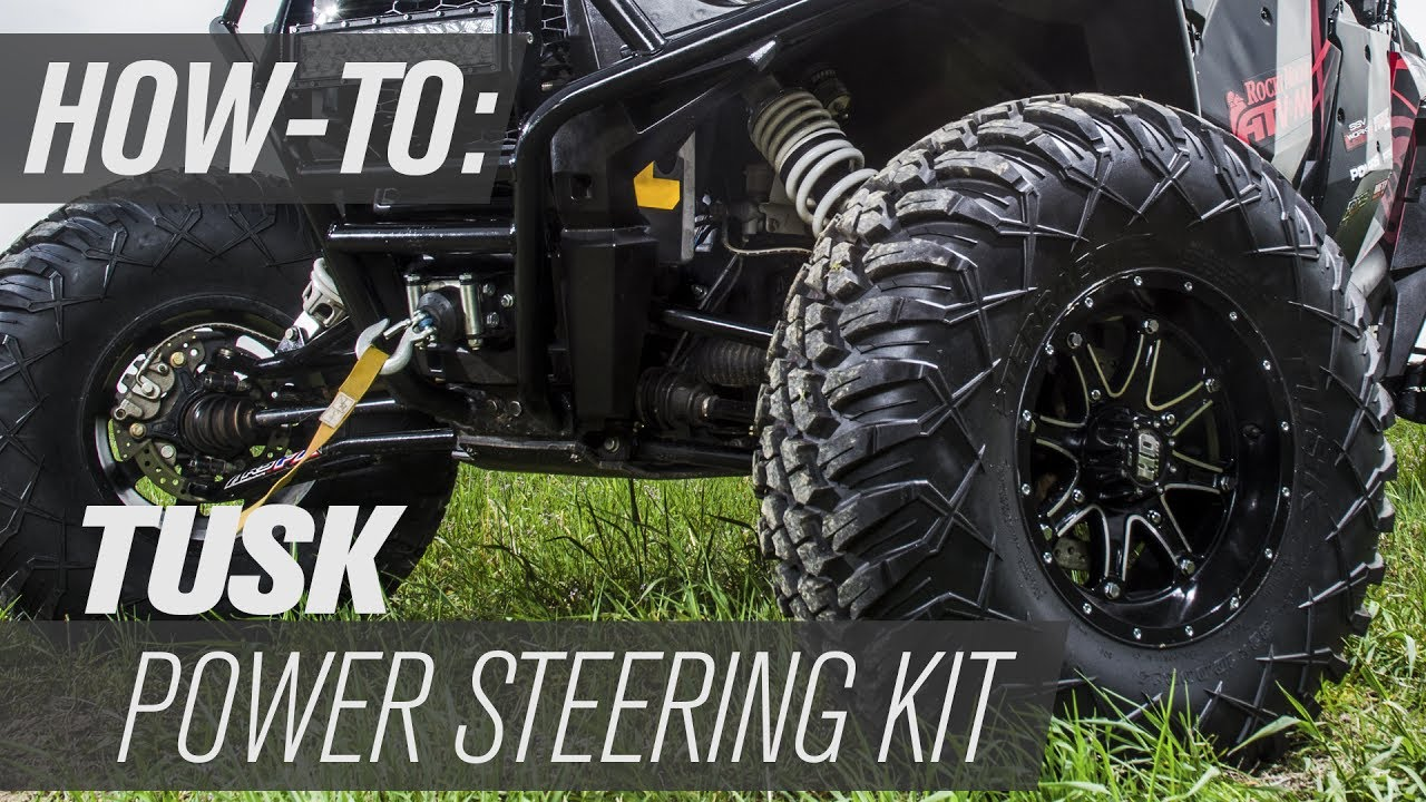 hight resolution of how to install the tusk utv power steering kit
