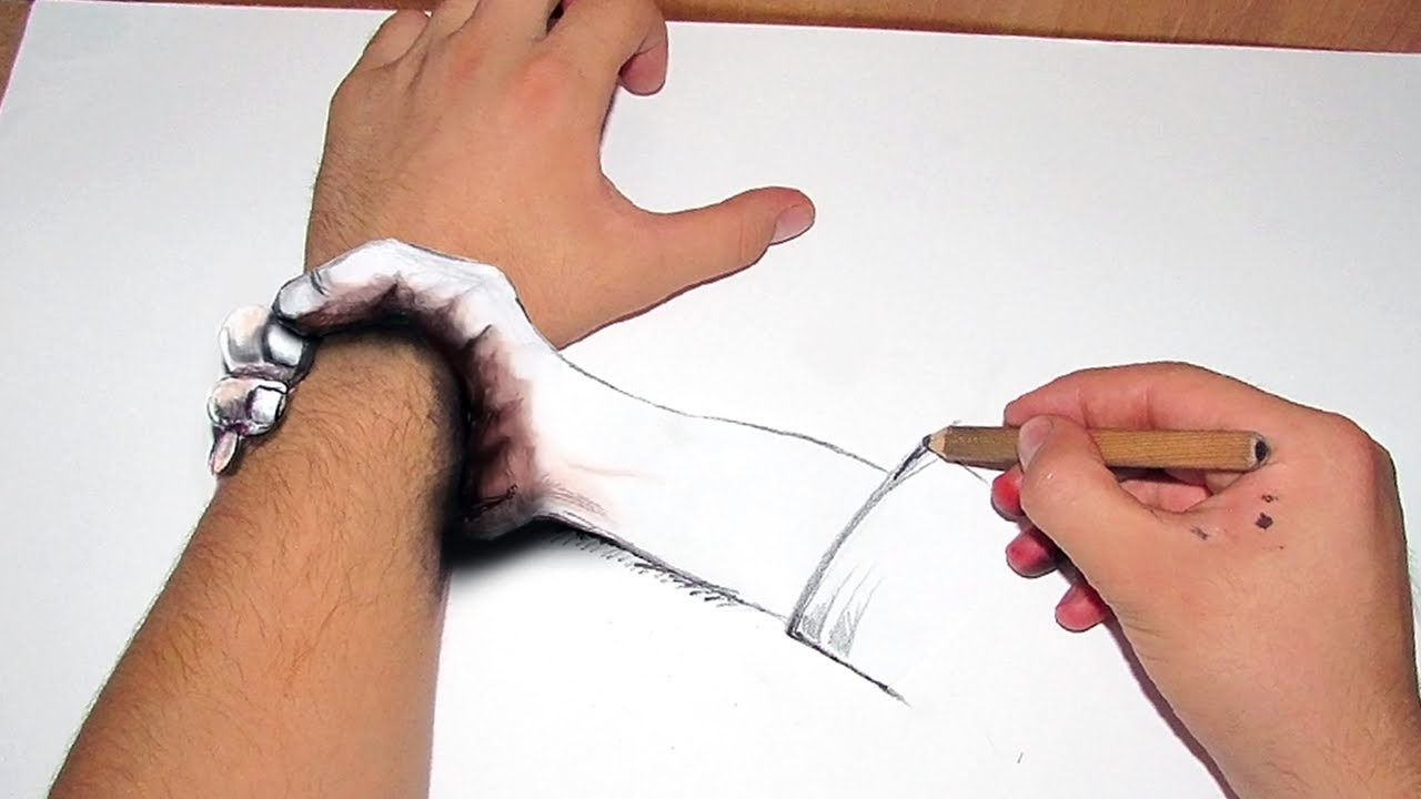 3d El çizimi Youtube