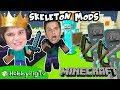 Minecraft MODS Skeleton Game! HobbyPigTV