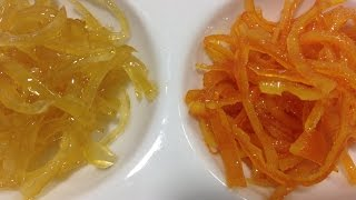 How To Candied Orange And Lemon Zest