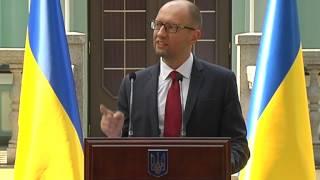 Prime Minister of Ukraine Arseniy Yatsenuk about sanctions against Russia