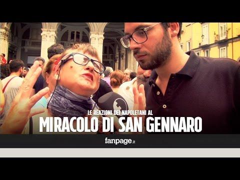 La reazione dei napoletani al miracolo di San Gennaro 2015