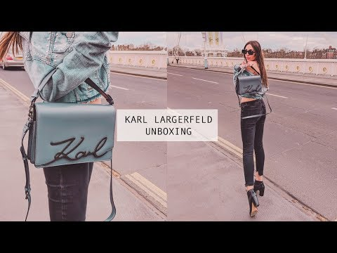 KARL LARGERFELD SIGNATURE BAG UNBOXING AND REVIEW | TERAL ATILAN