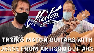 Trying @Maton Guitars for the first time with @Artisan Guitars