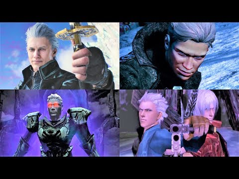 ALL VERGIL BOSS BATTLES - DEVIL MAY CRY GAMES (2001 - 2019)