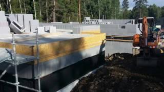 Дом из несъёмной опалубки. Продолжение строительства  2-этажи. Стокгольм, Kista  2017(, 2017-06-30T21:23:11.000Z)