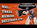 NHL Trade Rumors! Bobrovsky, Bruins, Flyers! (December 10th)